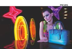 Ad Campaign: Prada Fall/Winter Model: Amanda Murphy Photographer: Willy Vanderperre Fashion Editor: Olivier Rizzo Hair: Eugene Souleiman Make Up: Lucia Pieroni PART II Fashion Advertising, Advertising Campaign, Ads, Amanda Murphy, Neon Symbol, Amanda Jean, Neon Licht, Dream Photography, Fashion Photography