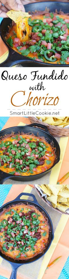 Queso Fundido with Chorizo | SmartLittleCookie.net