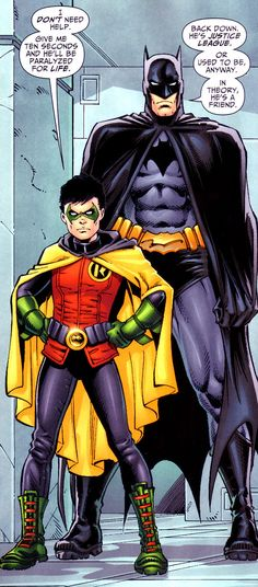 "Damian: ""I don't need help. Give me ten seconds and he'll be paralyzed for life"" Batman: ""Back down. He's Justice League or used to be, anyway. In theory, he's a friend."" <---- is it bad that i recognized that as Damian before I read this?"
