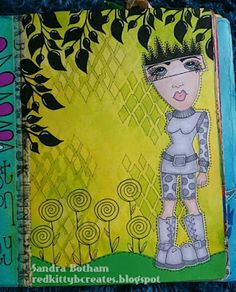 Sandra Botham - Red Kitty B Creates: Dylusions