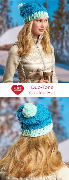 Duo-Tone Cabled Hat