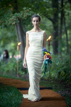 Willow Ruched Sheath Eco Cotton Gown with Lace by abstractpretty, $1,450.00 :: Gorgeous!!