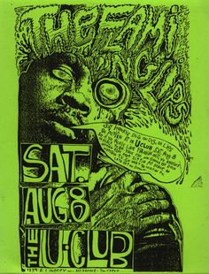 The Flaming Lips and Gun Club gig flyer #Posters