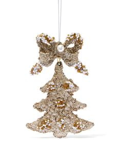Gold-Tone Tree and Bow Decoration