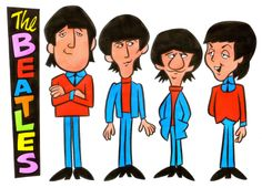 The Beatles line up model sheet.