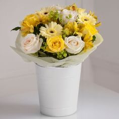 Bright Yellow Pail from Next