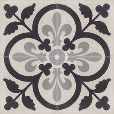 Cement tiles with timeless classic patterns. Painting Tile Floors, Painted Floors, Tile Patterns, Textures Patterns, Mandala Stencils, Tile Crafts, Tiles Texture, Diy Carpet, Floor Design