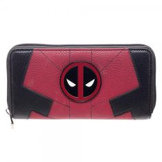 """Marvel Deadpool Jrs. Suit Up Zip Around Wallet - Approx 7.5"""" x 4"""" Zipped - 12 Card Slots - Vinyl Inside - Two Larger Inside Pockets - One Central Zipped Internal Pocket - Soft Vinyl 70% PU 30% Polyest"""