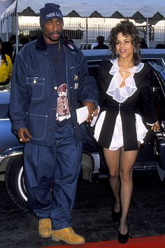 With Rosie Perez.  He never denied loving women.  They loved him back, he said, after he reached stardom.