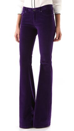 Rachel zoe Rachel Corduroy Flare Pants in Purple