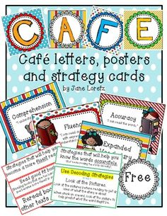 Cafe letters, posters and strategy cards (FREE)