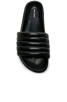 Isabel Marant Hellea Padded Leather Sandals | Black
