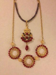 e8bfb967a8ae Collar chapa de oro coral y perla cultivada