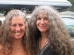 Middle age ladies with thick grey hair....so natural and lovely!