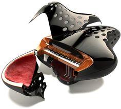 Bauhaus grand piano by Schimmel - Such an interesting design!