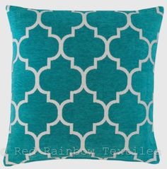 Luxury Chenille Moroccan Design Geometric Cushion Cover Grey White 45 X for sale online Funky Cushions, Geometric Cushions, Cushions On Sofa, Décor Pillows, Decorative Cushions, Contemporary Home Furniture, Luxury Cushions, Teal And Grey, Teal Blue
