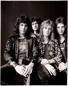 """Queen, 1973. """"I had never heard of them, but with Freddie, it was immediately apparent that I was in the presence of a charismatic visionary who was totally focused. He set the dress sense for the..."""