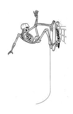 skull´s don´t go to heaven Skeleton Drawings, Skeleton Art, Cool Drawings, Drawing Sketches, Skateboard Design, Skateboard Art, Skate Tattoo, Silkscreen, Desenho Tattoo