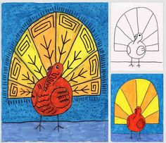 Art Projects for Kids: Abstract Turkey Drawing