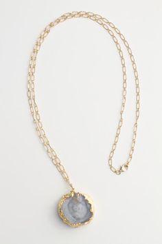 Brittany Necklace #DruzyQuartz @Micah Yancey Jewelry for 81 Poppies