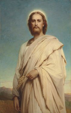 Sir Frank Dicksee (England, - - Christ of the Cornfield, 1888 Frank Dicksee, Life Of Christ, In Christ Alone, Bible Pictures, Jesus Pictures, Jesus Face, God Jesus, Catholic Art, Religious Art