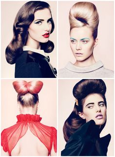Amazing hair and make up, photographed by Chris Nicholls for Canada's Flare magazine.