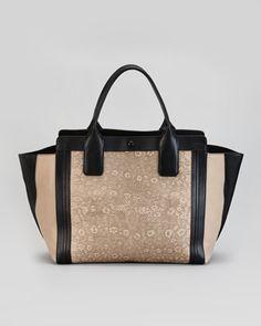 Alison Mini Lizard-Print Colorblock Tote Bag, Brown by Chloe at Bergdorf Goodman. $1595.00