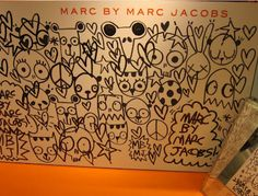 marc jacobs mural at Galeries Lafayette