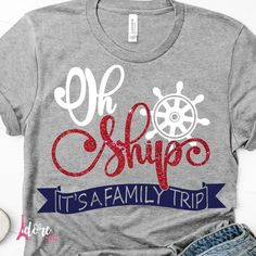 Printing Education Teachers Shapes Family Vacation Ideas Winter Disney Worlds Family Cruise Shirts, Family Shirts, Family Tshirt Ideas, Look T Shirt, Travel Shirts, Beach Shirts, Matching Shirts, Family Travel, Travel Kids