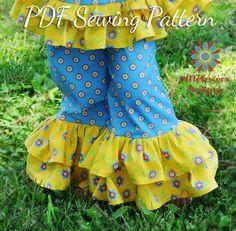 Girls Clothes Sewing Pattern Ruffle Pants PDF by StitchwerxDesigns, $7.50