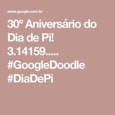 30º Aniversário do Dia de Pi! 3.14159..... #GoogleDoodle #DiaDePi Google Doodles, Felt Dolls