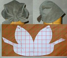 The best DIY projects & DIY ideas and tutorials: sewing, paper craft, DIY. DIY Women's Clothing : modello e schema taglio per cucire bandana cappellino vintage -ReadVintage sewing template: Italian pattern for Bandana Vintage, a style kerchief hat wi Sewing Hacks, Sewing Tutorials, Sewing Crafts, Sewing Projects, Diy Crafts, Sewing Clothes, Diy Clothes, Style Clothes, Clothing Patterns