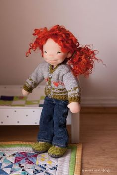 Natural Fiber Art doll by Down Under Waldorfs, buy Natural Fiber Art doll, Australian doll maker, buy cloth doll, Waldorf Inspired doll, made in Australia