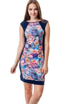 Navy round neck sleeveless floral tile print bodycon dress featuring solid print panels. Keep the night interesting with this unique knock out dress. TAGS # , #wholesale dresses #fashion wholesale dress , #party dress, #mini dress, #printed dress, #Boutique #Boutique Wholesale, #Sexy, #USA Made Wholesale 94% POLYESTER. 6% SPANDEX. HAND WASH COLD WATER. MACHINE WASH GENTLE. DO NOT BLEACH. MADE IN USA. $12.95