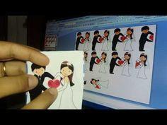 Como fazer convite encontro dos noivinhos - Para casamento - YouTube