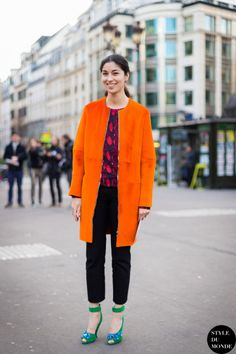 50 Ways to Wear Orange Like a Street Style Star | StyleCaster