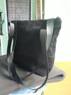 Canvas bag with handel imitation leather. Messenger Bag, Satchel, Canvas, Leather, Bags, Tela, Handbags, Canvases, Crossbody Bag