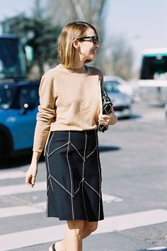 alexandra golovanoff | prada ss15 skirt (céline sweater)