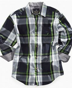 Nautica Kids Shirt, Little Boys Highlight Plaid Shirt - Kids Holiday Dressing - Macy's
