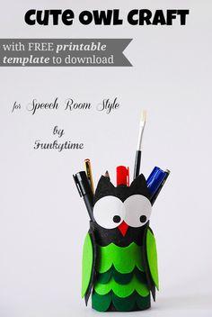 DIY Owl Tin Pencil Holder  Pinned by www.myowlbarn.com