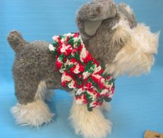 Pet Ruffle Collar Dog Cat Sparkle Christmas Holiday Tiny Handmade Crochet by Bren by HandCraftedByBren on Etsy