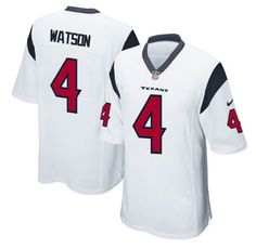 Men's Houston Texans #4 Deshaun Watson White Nike NFL Elite Jersey