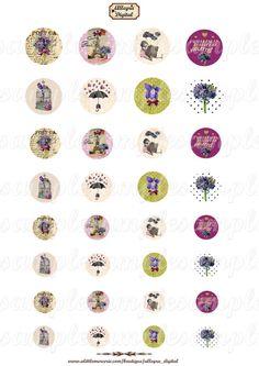Vintage retro Violeta de imágenes digitales. Imágenes de cabujón (imagen retro, flor de color púrpura, París, Torre Eiffel). Collage digital de joyas con un vaso de cabujón, scrapbooking y otras naves.  32 redondo medallones (30 mm, 20 mm, 25 mm, 18 mm) También disponible en oval Alta resolución: 300 dpi (jpeg)  -Tamaño de la hoja: 21 x 29.70 cm (tamaño A4)  -Envío a su correo electrónico el mismo día.  -A imprimir directamente.  Diseño gráfico digital-Allegra (reproducción y Reventa…