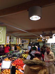 Stukje file in de supermarkt ...