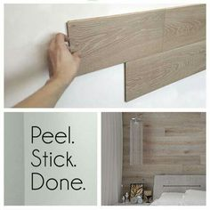 Peel-and-stick REAL wood paneling . . . WOW!  http://www.hardwoodbargains.com/wood-walling.html?pp=1