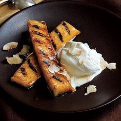 Rum-Spiked Grilled Pineapple. Never mind nuclear bomb howtos. THIS is why the internet is dangerous.