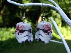 I so want these!!!!      Star Wars Stormtrooper girly flower earrings by BohemianCraftsody, $8.00
