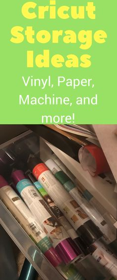 Cricut Storage Ideas and Solutions: Machine, Vinyl Storage, and More! I don't know about you, but as soon as I started using my Cricut Explore Air, I quick