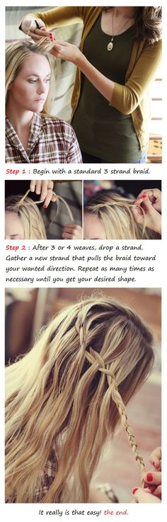 The Cascade Braid- Waterfall Braid