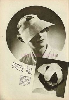 This week we continue the series: 50 Years of Crochet History. Today we're looking at crochet in the year Thread Crochet, Knit Crochet, Crochet Hats, Vintage Knitting, Vintage Crochet, Vintage Headpiece, Cool Hats, Vintage Outfits, Vintage Hats